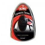Губка для обуви с дозатором Kiwi Express Shine для гладкой кожи, черная