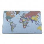 Коврик настольный для письма Durable 40х60см, Карта мира, прозрачный, 7211-19