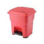 Контейнер для мусора Vileda Pro Гера 35л, с педалью и крышкой, красный, 137746