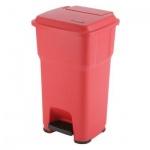 Контейнер для мусора Vileda Pro Гера 85л, с педалью и крышкой, красный, 137758