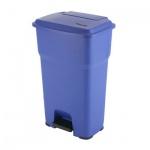 Контейнер для мусора Vileda Pro Гера 85л, с педалью и крышкой, синий, 137759