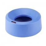Крышка для контейнера Vileda Pro Ирис 50л, воронкообразная, круглая, синяя, 137737