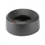 Крышка для контейнера Vileda Pro Ирис 50л, воронкообразная, круглая, черная, 137736