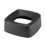 Крышка для контейнера Vileda Pro Ирис 60л, воронкообразная, прямоугольная, черная, 137742