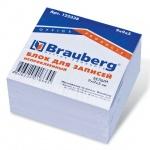 Блок для записей непроклеенный Brauberg белый, 90х90мм