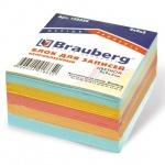 Блок для записей непроклеенный Brauberg 3 цвета, 90х90мм