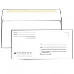 Конверт почтовый Родион Принт Е65 белый, 110х220мм, 80г/м2, 1000шт, декстрин, Куда-Кому