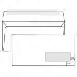 Конверт почтовый Родион Принт Е65 белый, 110х220мм, 80г/м2, 1000шт, стрип, прав. окно