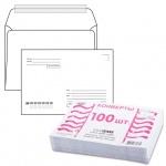 Конверт почтовый Курт С5 белый, 162х229мм, 80г/м2, 100шт, стрип, Куда-Кому