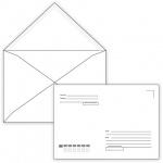 Конверт почтовый Курт С5 белый, 162х229мм, 80г/м2, 1000шт, декстрин, Куда-Кому