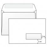 Конверт почтовый Родион Принт С5 белый, 162х229мм, 80г/м2, 1000шт, стрип, прав. окно