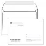 Конверт почтовый Курт С5 белый, 162х229мм, 80г/м2, 50шт, стрип, Куда-Кому