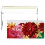 Конверт почтовый С6/С5 цветочный принт, 114х229 мм, 130г/м2, Букет, стрип