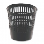 Корзина для бумаг Brauberg Maxi 16л, черная, сетчатая, 231165