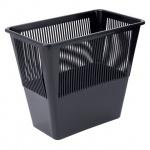 Корзина для бумаг Стамм 12л, черная, сетчатая, КР31