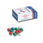 Кнопки для пробковых досок Brauberg цветные, 50 шт/уп, шарики, в карт. коробке