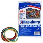 Резинки для денег Brauberg 60х1.5мм, 200г, разноцветные, 360шт