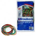 Резинки для денег Brauberg 60х1.5мм, 500г, разноцветные, 900шт