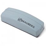 Губка для маркерной доски Brauberg 120х60мм, не магнитный, серый