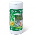 Салфетки чистящие для мониторов Brauberg Effect Clean 50 влажных+50 сухих, в тубе