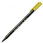 Ручка-роллер Staedtler Triplus желтая, 0.4мм