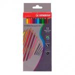 Набор акварельных карандашей Stabilo Aquacolor, 12 цветов