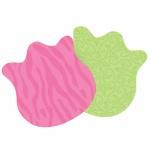 Блок для записей с клейким краем Post-It Super Sticky Цветы, 2 цвета неон, 80х80мм, 150 листов, фигурный, 7350-DSY