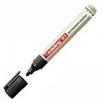Маркер перманентный Edding ECO 21 черный, 1.5-3мм, круглый наконечник, универсальный, без запаха