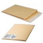 Пакет почтовый объемный Largepack B4 крафт, 250х353х40мм, 120г/м2, 200 шт, стрип