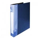 Папка на 2-х кольцах А4 Бюрократ синяя, 27 мм, 0827/2Rblu