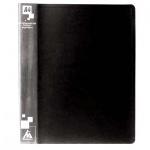 Папка на 4-х кольцах А4 Бюрократ, 18 мм, черная