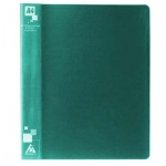 Папка на 4-х кольцах А4 Бюрократ зеленая, 27 мм, 0827/4Rgrn