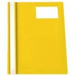Скоросшиватель пластиковый Бюрократ с карманом для ВИЗИТКИ, А4, желтый