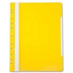 Скоросшиватель с перфорацией Бюрократ, А4, желтый