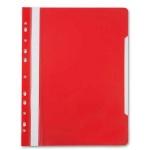 Скоросшиватель с перфорацией Бюрократ, А4, красный