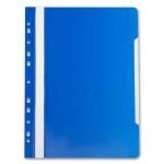 Скоросшиватель с перфорацией Бюрократ, А4, синий