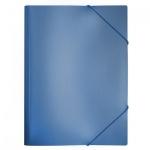 Пластиковая папка на резинке Бюрократ синяя, A4, до 150 листов, PR05blue