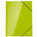 Картонная папка на резинке Leitz WOW зеленая, А4, до 250 листов, 39820036