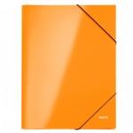 Картонная папка на резинке Leitz WOW оранжевая, А4, до 250 листов, 39820036