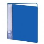 Папка файловая Бюрократ синяя, А4, на 30 файлов, BPV30BLUE