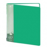 Папка файловая Бюрократ зеленая, А4, на 20 файлов, BPV20GRN