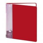 Папка файловая Бюрократ красная, А4, на 20 файлов, BPV20RED