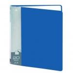 Папка файловая Бюрократ, на 20 файлов, синяя