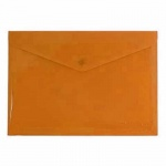 Папка-конверт на кнопке Бюрократ, А4, оранжевая