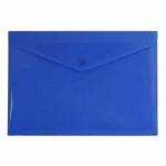Папка-конверт на кнопке Бюрократ синяя непрозрачная, А4, PK803ANBLU