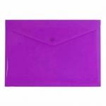 Папка-конверт на кнопке Бюрократ фиолетовая непрозрачная, А4, PK803ANVIO
