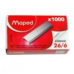 Скобы для степлера Maped №26/6, никелированные, 1000шт, 324605