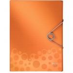 Пластиковая папка на резинке Leitz Bebop оранжевая, A4, до 250 листов, 45680045