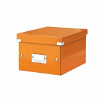 Архивный короб Leitz Click & Store-Wow, A5, 220x160x282 мм, оранжевый