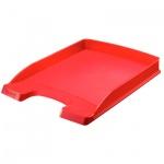 Лоток горизонтальный для бумаг Leitz Plus Slim 357х255x35мм, красный
